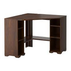 Small Desk In Ikea Borgsj 214 Corner Desk Brown Ikea
