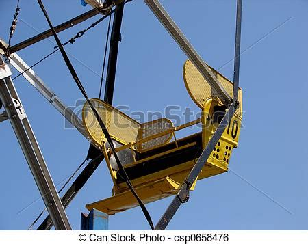 what are the seats on a ferris wheel called stock image of ferris wheel up of 1 seat on a