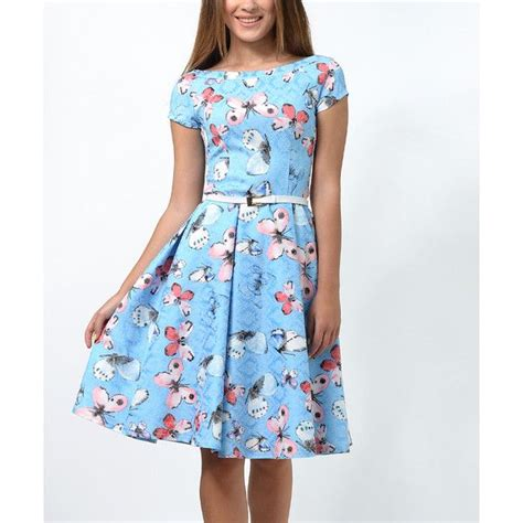 light blue fit and flare dress lila kass light blue butterfly fit flare dress 70