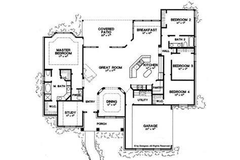 2500 square feet home plan homepw06786 2500 square foot 4 bedroom 2