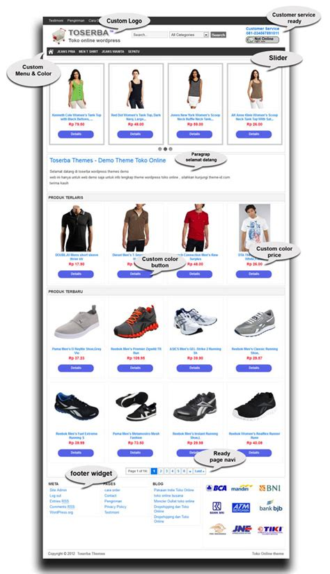 theme wordpress jualan online template toko online ajib pas untuk olshop theme toko