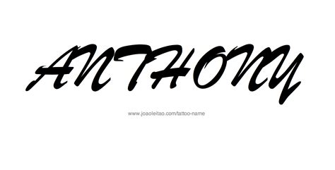 anthony tattoo designs anthony name