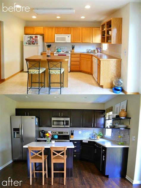 how to refinish kitchen cabinets with stain best 25 cabinet transformations ideas on pinterest