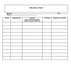 office document templates general attendance sheet template sle for ms word or