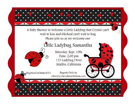 Free Printable Ladybug Baby Shower Invitations Templates Free Printable Ladybug Baby Shower Invitation