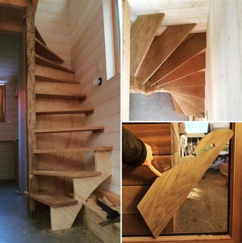 tiny house stairs la tiny house with smart staircase to loft