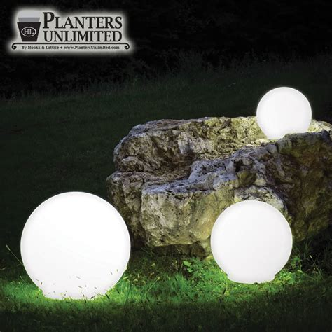 illuminated spheres light up sphere polyethylene spheres