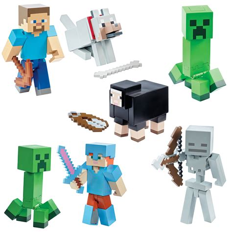 Figure Minecraft Seri 1 skeletons creepers sheep and steve these minecraft