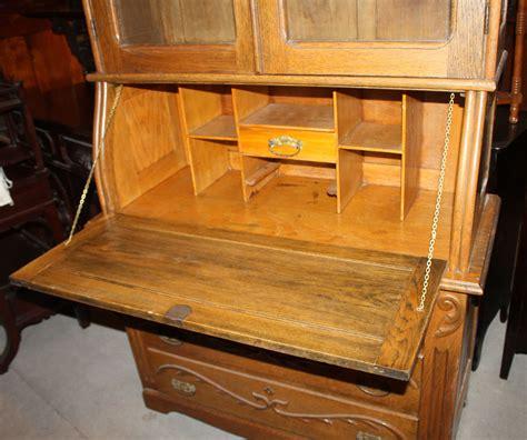 antique oak desk with bookcase antique drop front desk with bookcase antique oak drop