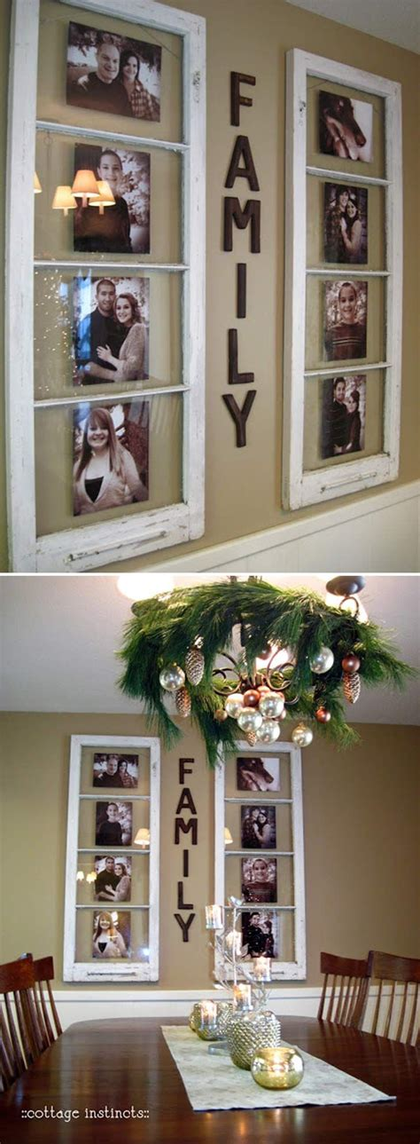 diy family photo display click  image    home
