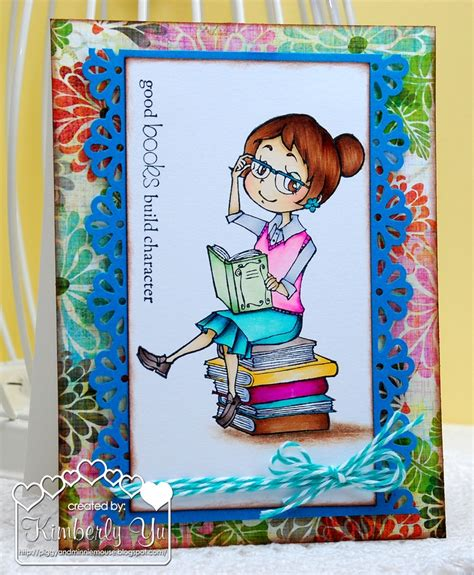 Handmade Cards For Teachers - handmade card for books build character
