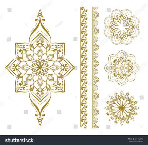 set of oriental design elements stock vector image 22896967 mandala set mehendi elements henna design stock vector