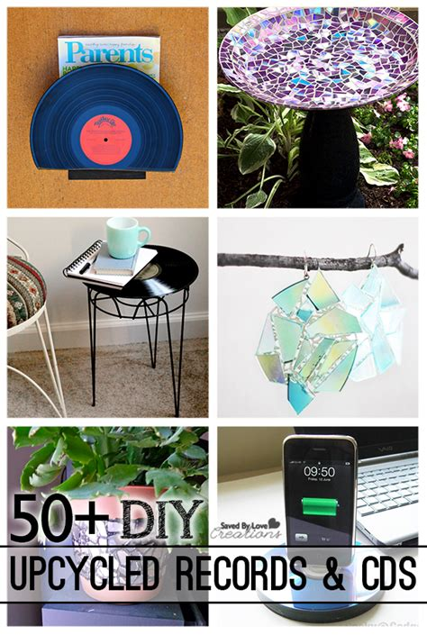 ways  upcycle cds  vinyl records