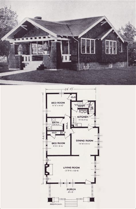 Plan So Replica Houses 1920s Cottage House Plans