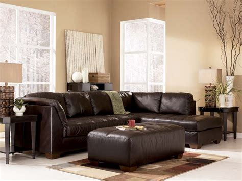 ashley furniture leather sectional harrington chocolate sectional sofa signature design by