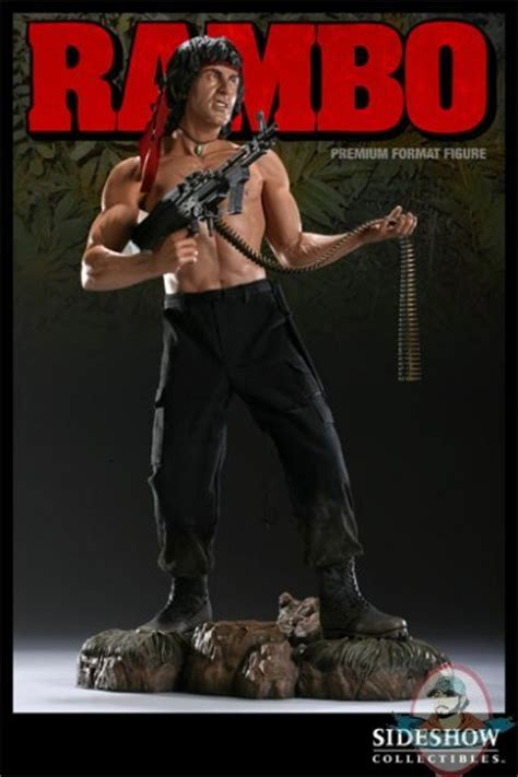 rambo stallone premium format figure statue  sideshow collectibles man  action figures