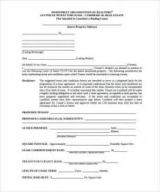 Sle Letter Of Intent To Renew Commercial Lease Free Intent Letter Templates 22 Free Word Pdf