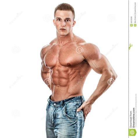 muscular man 31401 bodybuilder stock photo image 30376290
