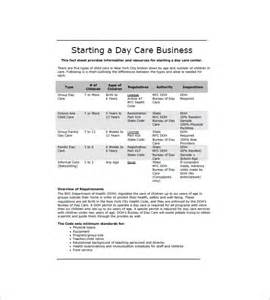 daycare business plan template daycare business plan template 12 free word excel pdf