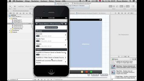 tutorial xcode webview xcode tutorial webview app mainstoryboard part 1 youtube