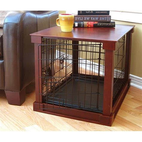 dog crate end table diy side table dog kennel militariart com