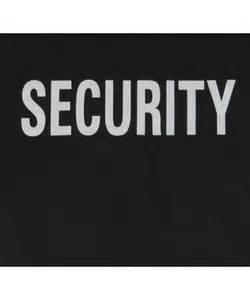Black security t shirt logo