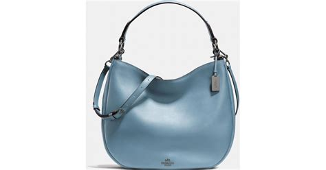 Coach Nomad Turquise coach nomad hobo in glovetanned leather in blue