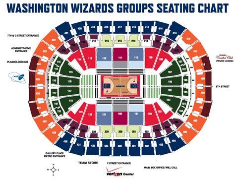 verizon center seating map wizards washington wizards seating chart capital one arena
