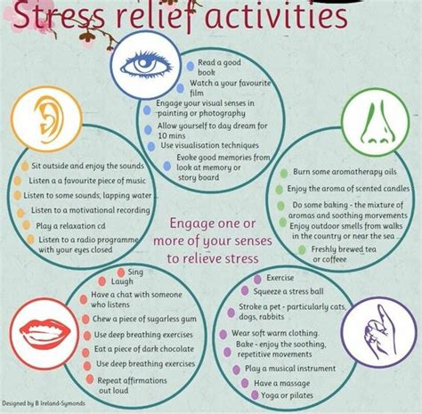stress relief activities and stress on