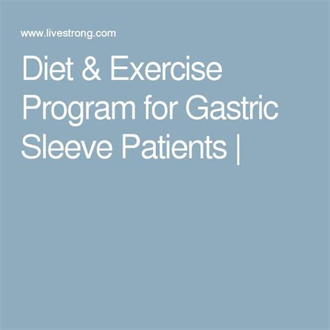 Diet Exercise Or Surgery by 25 Best Ideas About Vertical Sleeve Gastrectomy On