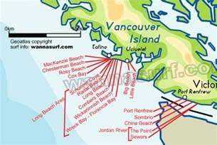 map west coast canada west coast surfing in west coast canada wannasurf