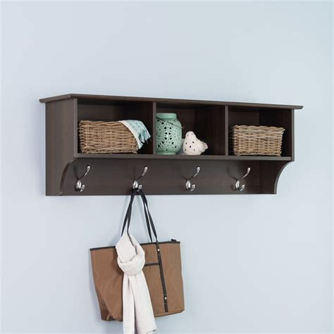 wall mounted furniture shop prepac furniture espresso 8 hook wall mounted coat