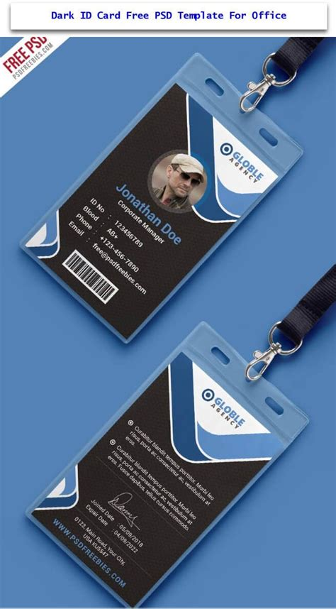 employee id card template free behance 36 best id cards images on notebooks name