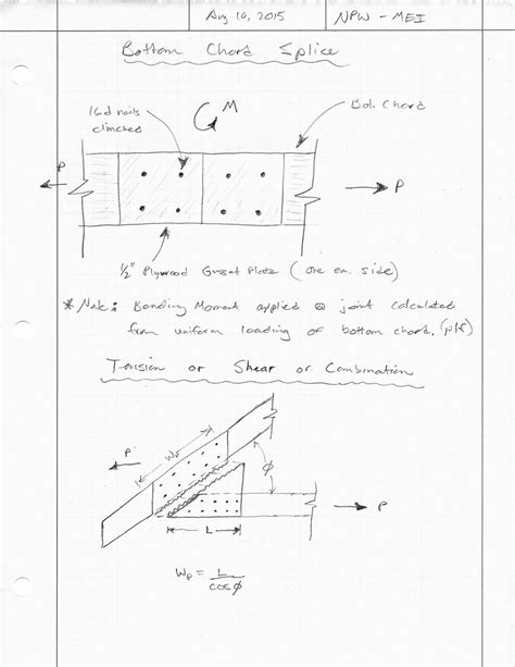 new design criteria for gusset plates in tension trusses with plywood gusset plates wood design and
