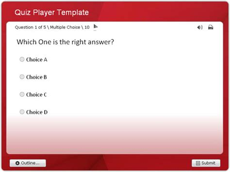 trivia template quiz survey player templates for wondershare