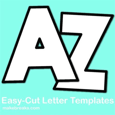 alphabet letter templates print cut