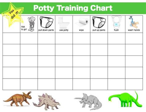 printable reward charts for potty training printable potty training reward chart