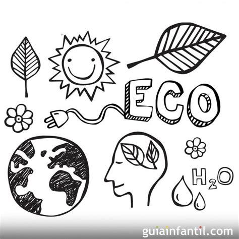 imagenes faciles para dibujar del medio ambiente dibujos para colorear con los ni 241 os del medio ambiente