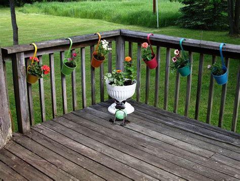 Deck Rail Brackets For Planters by Deck Railing Planter Brackets Home Design Ideas