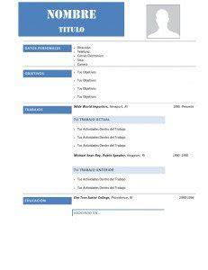 Modelo Curriculum Vitae Para Descargar 60 Modelos De Curriculum Vitae Para Descargar Gratis