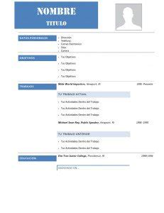 Modelo De Curriculum Vitae Para Completar Descargar 60 Modelos De Curriculum Vitae Para Descargar Gratis