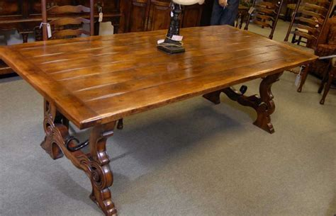 rustic refectory table cherry wood tables dining