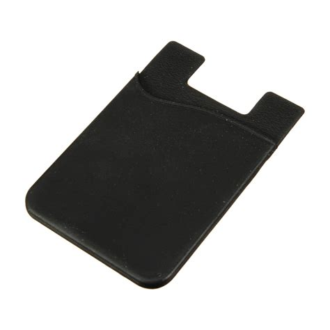 card holder silicone wallet credit card stick adhesive holder
