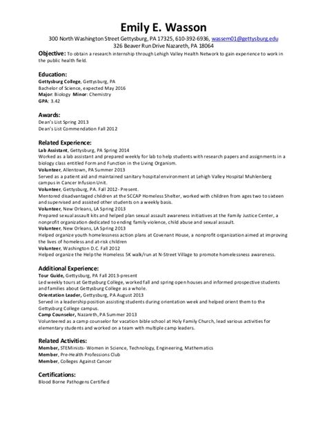resumes sles for college students summer resume summer 2014 internships