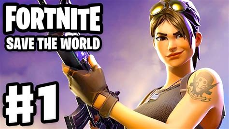 fortnite save  world gameplay walkthrough part