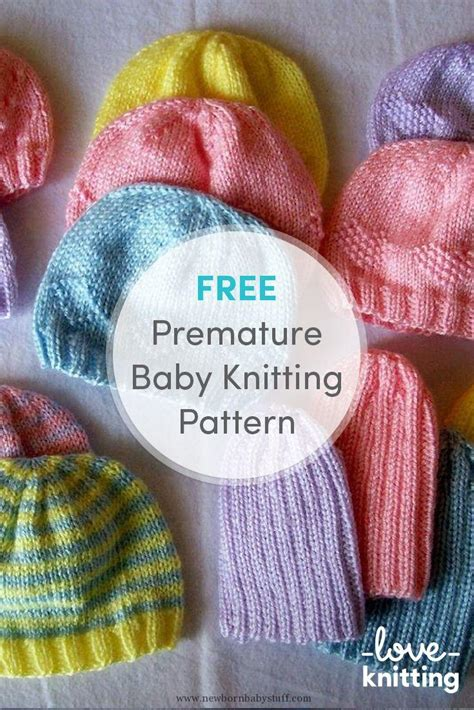 Knitting Patterns For Preemie Baby Hats