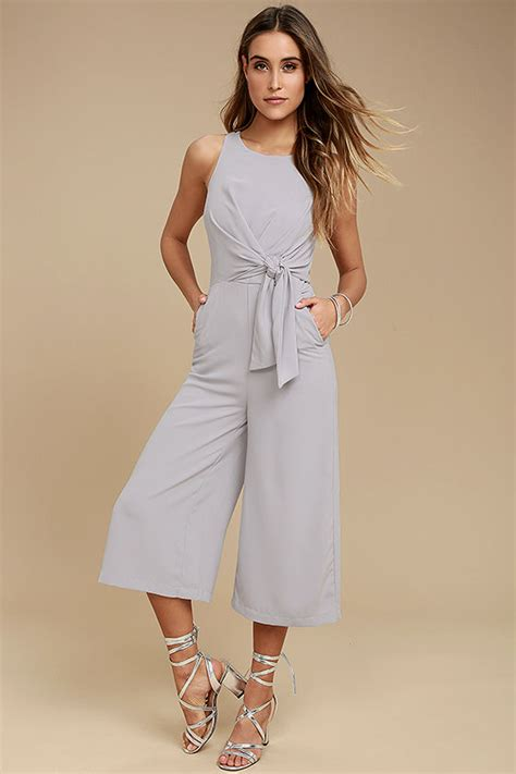 Midi Jumpsuit chic grey jumpsuit midi jumpsuit sleeveless jumpsuit 67 00
