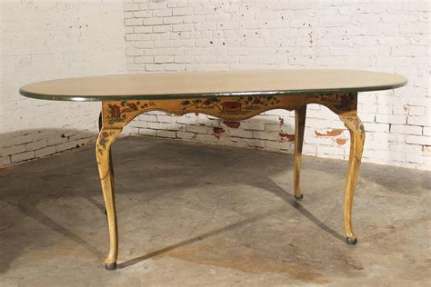 hand painted dining room tables antique chinoiserie hand painted oval dining table with