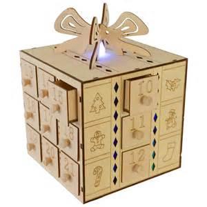 multi led light up gift box drawers wooden advent calendar