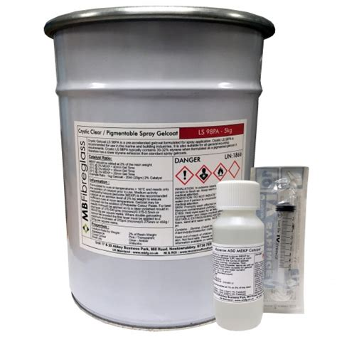 Spray Paint Ls by Crystic Ls 98pa Clear Spray Unpigmented Gelcoat 5kg